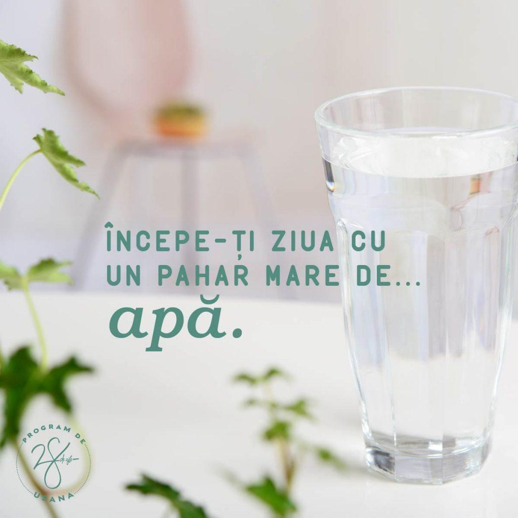 Program de 28 de Zile Incepe ti ziua cu un pahar mare cu apa Social Shareable
